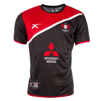 X BLADES gloucester rugby stirling training t-shirt [black/red]