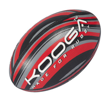 KOOGA wave grip training rugby ball [black/red]