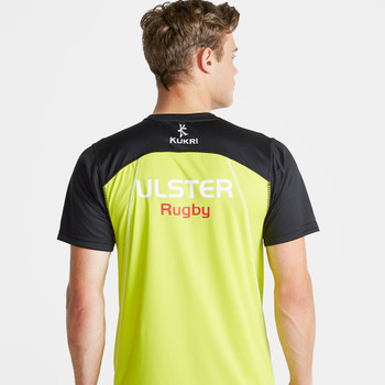 KUKRI ulster rugby junior performance t-shirt [black/electric lime/white]