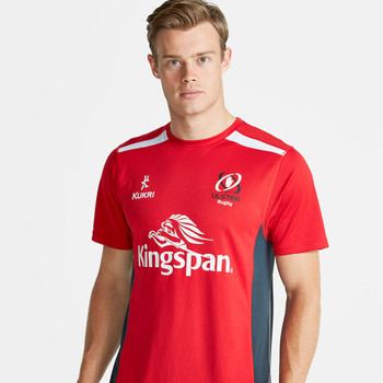 KUKRI ulster rugby junior performance t-shirt [red/charcoal]