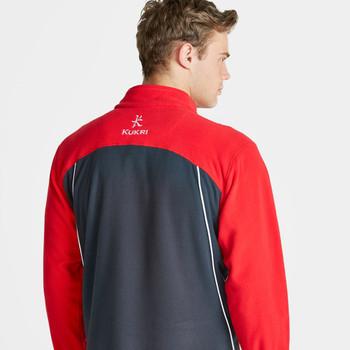KUKRI ulster rugby 1/4 zip mid-layer fleece [red]