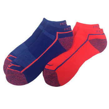 MIZUNO active training mid socks [royal blue/coral] [2-pair pack]