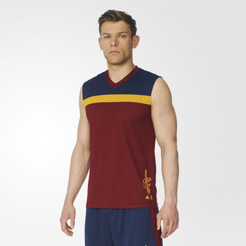ADIDAS cleveland cavaliers NBA winter hoops reversible basketball vest [maroon/navy/yellow]