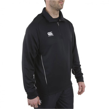 CCC team 1/4 zip mid layer training top [black]