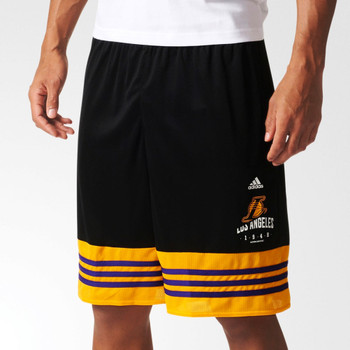 ADIDAS LA lakers basic basketball short [black/yellow]