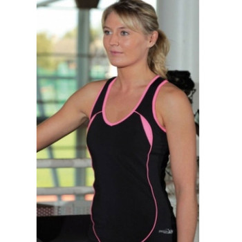 PRECISION ladies running vest [black/pink]