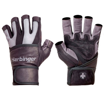 HARBINGER bioflex wrist wrap weight training gloves