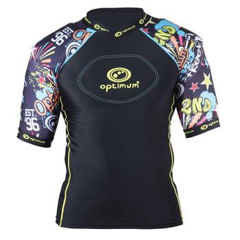 OPTIMUM razor 2nd street rugby shoulder pads [black/multi]