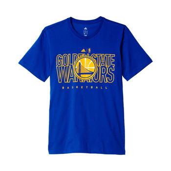 ADIDAS golden state warriors basketball t-shirt [blue]