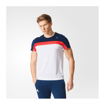 ADIDAS france rugby collegiate t-shirt [white/navy/red]