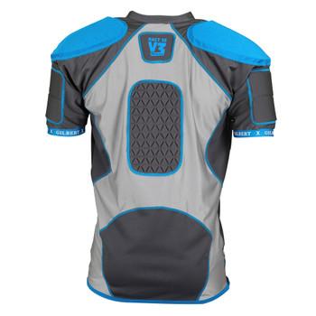 GILBERT xact 10 V3 rugby shoulder pads [grey/blue]