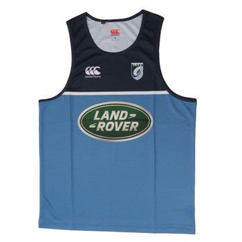 CCC cardiff blues rugby mens training singlet [cronulla/navy]