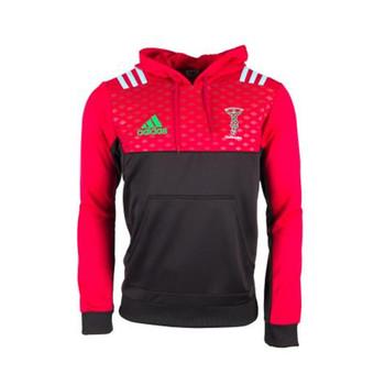 ADIDAS harlequins rugby  performance hoodie 2018 [black/red]