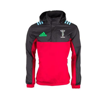 ADIDAS harlequins rugby all weather jacket [red/black]