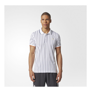 ADIDAS new york striped tennis polo shirt [white]
