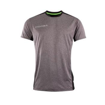 KOOGA Mens Grey Marl Kooga extreme Performance Wicking Tee Shirt [grey]