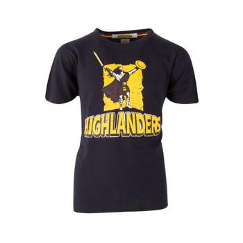 BrandCo kids highlanders super rugby tee shirt [black]