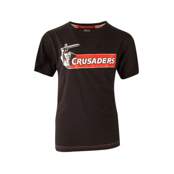BrandCo kids crusaders super rugby tee shirt [black]