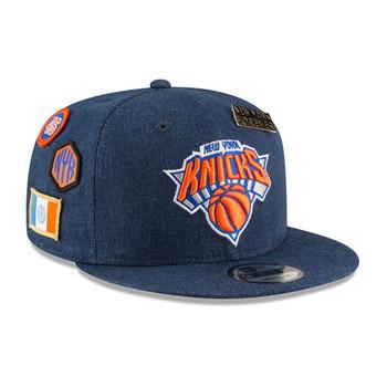 NEW ERA new york knicks 9fifty adjustable basketball snapback draft [denim]
