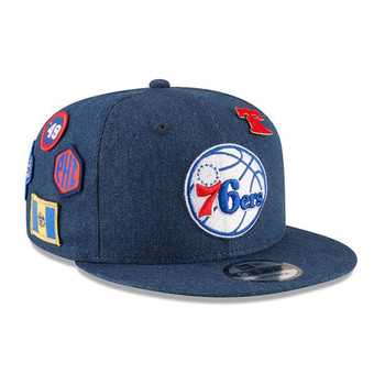 NEW ERA philadelphia 76ers 9fifty adjustable basketball snapback draft [denim]