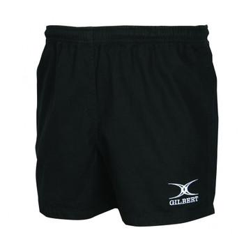 GILBERT photon cotton rugby shorts senior [black]