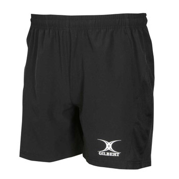 GILBERT rugby vapour gym / training shorts [black]