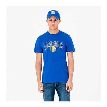 NEW ERA golden state warriors basketball cotton t-shirt [blue]