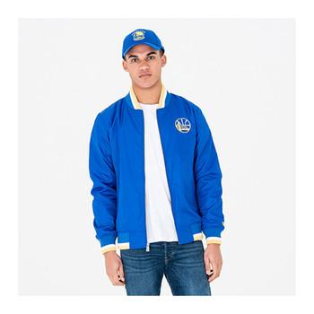 NEW ERA Golden State warriors NBA Team Varsity Jacket [blue]