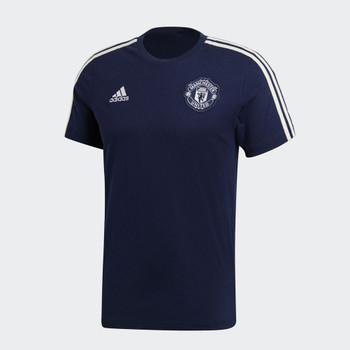 ADIDAS Manchester United Three Stripe T-Shirt [navy]