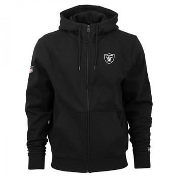NEW ERA las vegas raiders team apparel NFL Full zip hoodie [black]