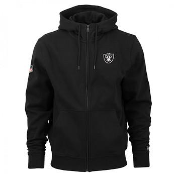 NEW ERA las vegas raiders team apparel NFL Full zip hoodie [black]