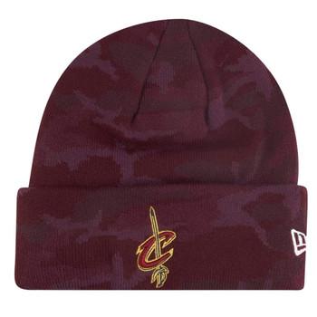 NEW ERA Cleveland Cavaliers NBA camo knit cuff beanie [maroon]