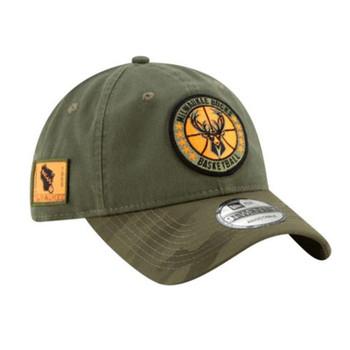 NEW ERA milwaukee bucks 9Twenty adjustable NBA basketball league cap [camouflage]