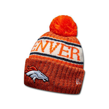 NEW ERA Denver Broncos NFL sideline knit bobble beanie hat [orange]