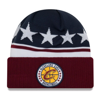 NEW ERA cleveland cavaliers NBA tip-off beanie hat [navy/burgandy/white]