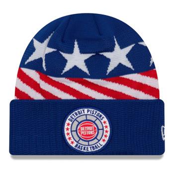 NEW ERA detroit pistons NBA tip-off beanie hat [blue/white/red]