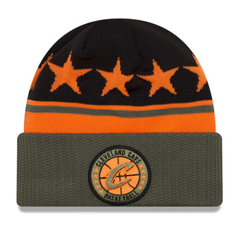 NEW ERA cleveland cavaliers NBA tip-off beanie hat [olive/black/orange]