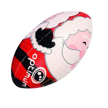 OPTIMUM Rugby Ball Christmas Santa -  Size Mini
