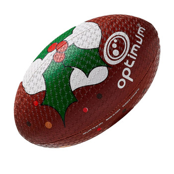 OPTIMUM Christmas Pudding Rugby Ball -  Size Midi