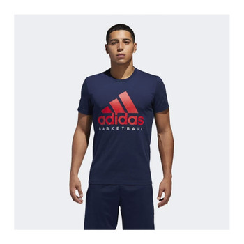 ADIDAS Basketball Graphic Tee [blue/red]