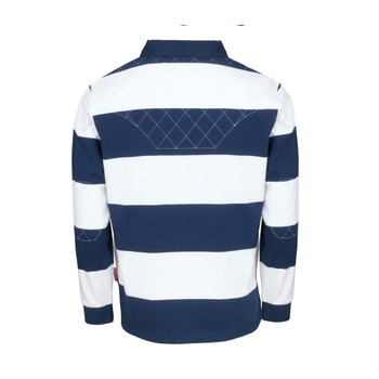 RWC 2019 Japan Long Sleeve Stripe Rugby Shirt [navy/white]