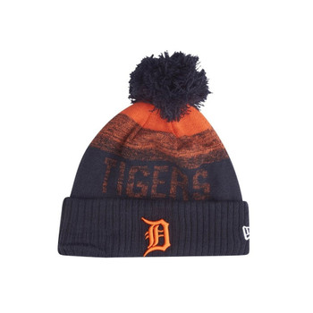 NEW ERA Detroit Tigers  MLB Knit Bobble Hat Beanie [black/orange]