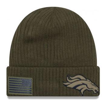 NEW ERA Denver Broncos knit NFL salute-to-service hat [olive]