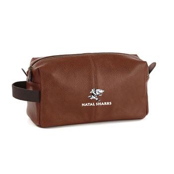 EGGCATCHER natal sharks rugby wash kit bag [brown]
