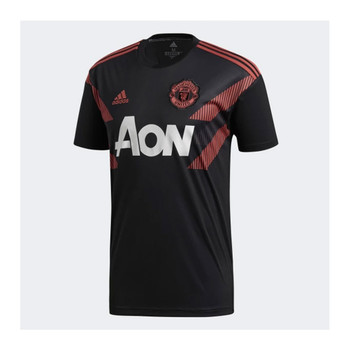 ADIDAS Manchester United Football Home Pre-Match Jersey [black/red]