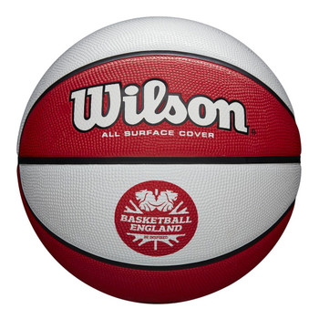 WILSON Clutch Basketball England Size 7 [white/red]