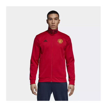 ADIDAS Manchester United Football 3 Stripes Track Jacket [black/red]