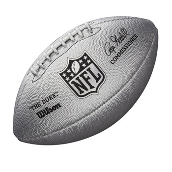 WILSON duke NFL metallic LTD ED american football [silver]