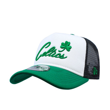 buy popular aa4c3 12bb4 NEW ERA Boston Celtics Trucker cap  black white green