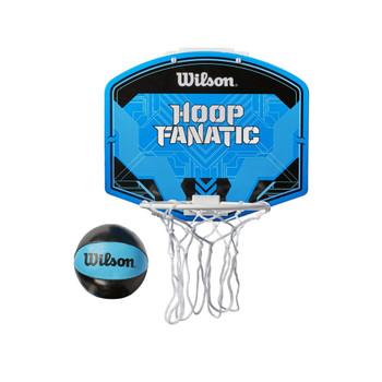 WILSON hoop fanatic mini basketball set [blue/black]